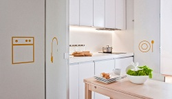 Mieszkanie z innowacją, czyli kuchnia schowana w szafie