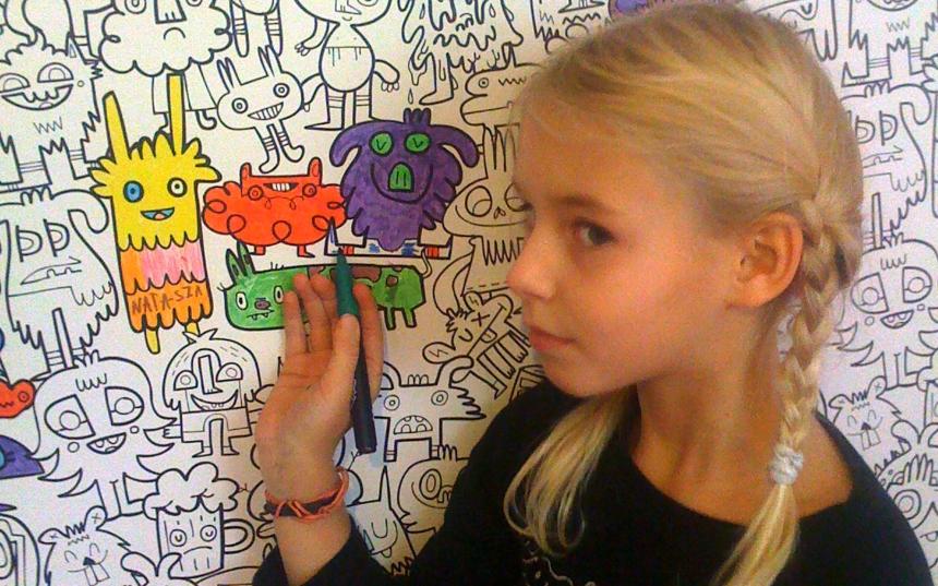 Kreatywna tapeta ulubiona przez moją córkę i jej przyjacółki