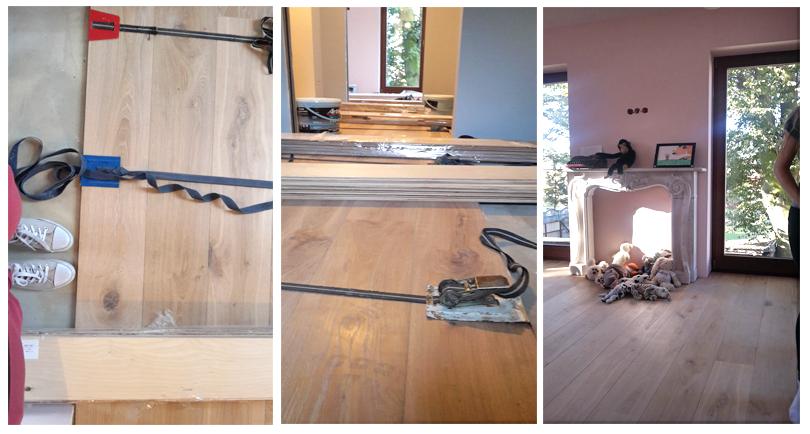 Układanie deski warstwowej na klej, montaż podłogi drewnianej