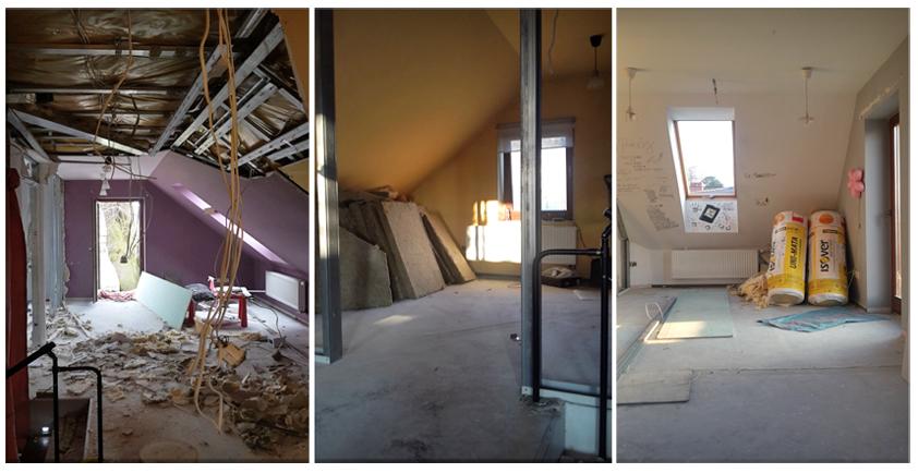 remont domu, demontaż ścianek działowych